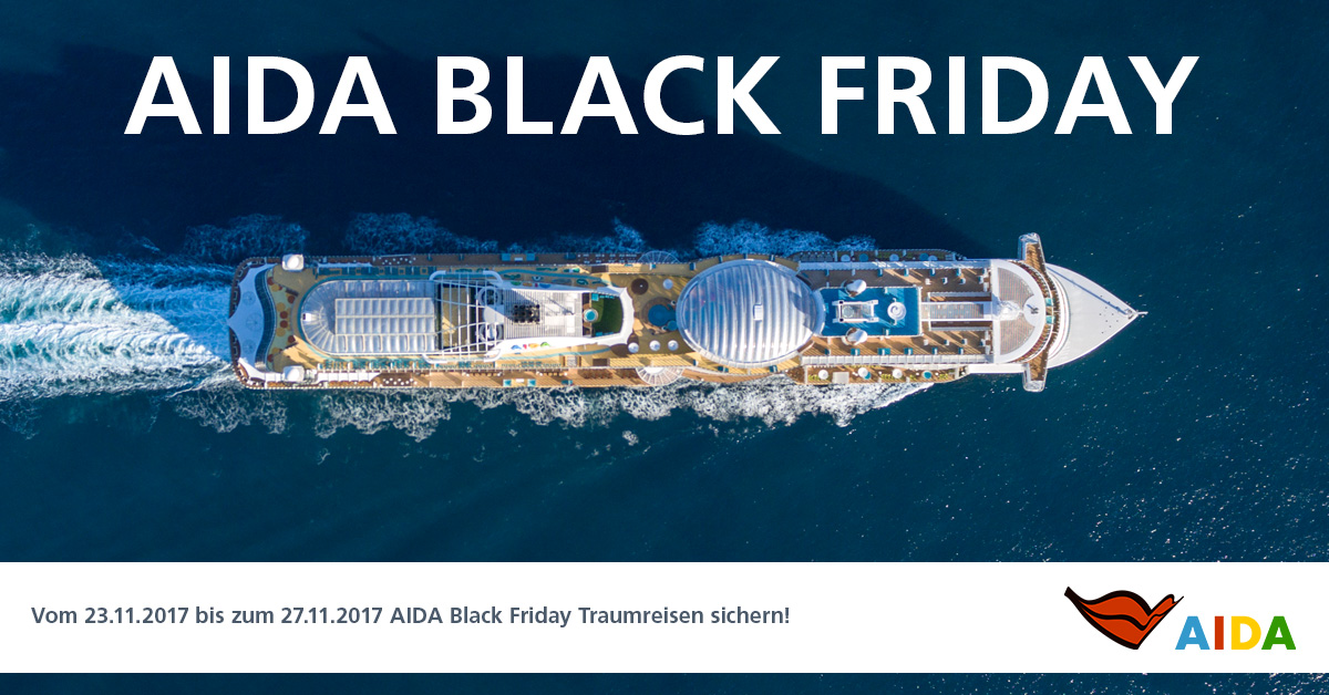 Black Friday Specials von AIDA ab sofort