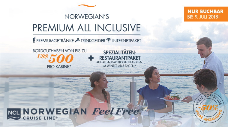 Supersale bei Norwegian Cruise Line